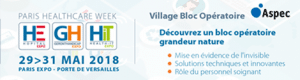 Village Bloc Opératoire Aspec, Paris Healthcare Week 2018